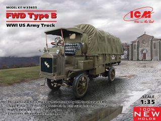 ICM 1:35 Fwd Type B Wwi Us Army Truck