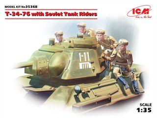 1:35 T-34-76 w/ Svt. Tank Riders