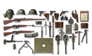 ICM 1:35 Wwi Italian Infantry Weapon&Equip.