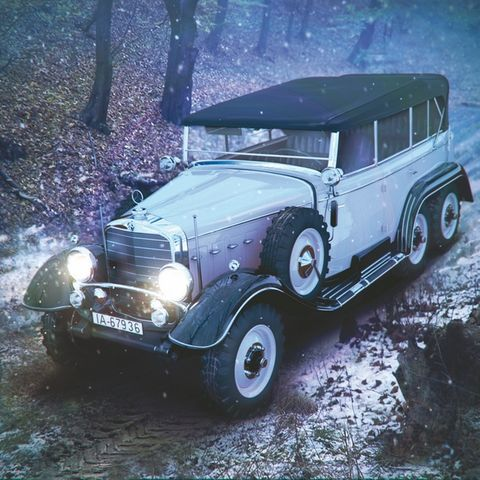 ICM ICM24012 1:24-Typ G4 Soft Top WWII German Personnel Car