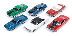 Johnny Lightning 1:64 Jl Muscle Car Wave1B(6 Set)