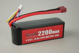 Redback Batt. 14.8V Lipo 2200Mah 50CFlight