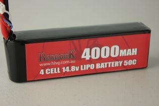 Redback Battery 14.8V Lipo 4000Mah 50CFlight