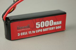Redback Battery 11.1V Lipo 5000Mah 50CSoft