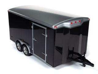 Autoworld 1:18 Enclosed Trailer Black