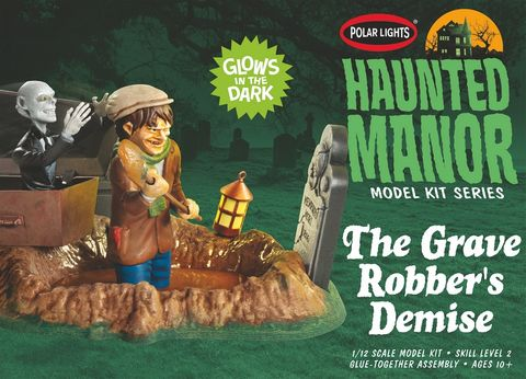 Polar Lights 1:12 Haunted Manor: The Grave Robber