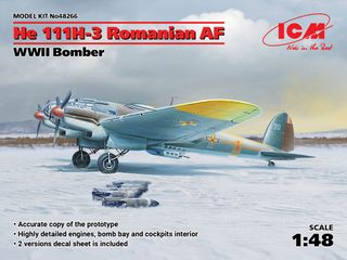 ICM 1:48 He 111H-3 Romanian Af Wwii Bomber
