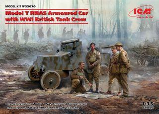 ICM 1:35 Model T Rnas Armoured Car W/Crew