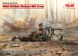 ICM 1:35 Wwi British Vickers Mg Crew(Mg2)