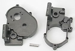 Gearbox halves (l&r) (black) w/ idler ge