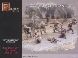WWII FRENCH INFANTRY, 40PCS, 1:721:72