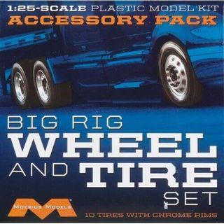 Moebius 1:25 Semi Wheels/Tires (10pk)klin