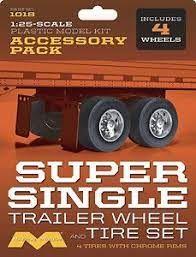 Moebius 1:25 Super Single Trailer Wheel& Tire Set