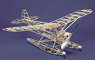 Herr Piper Super Cub Floatplane 762mm WSRubber, Electric inc Floats