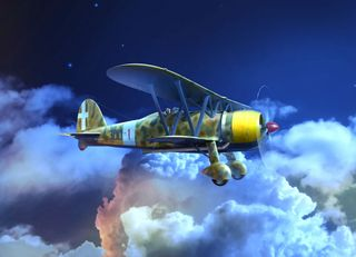 ICM 1:32 CR. 42CN, WWII Italian Night Fighter