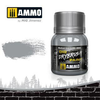 Ammo Paint, Drybrush Medium Grey 40ml