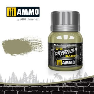Ammo Paint, Drybrush Medium Green 40ml