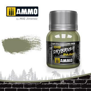 Ammo Paint, Drybrush Light Olive Green 40ml