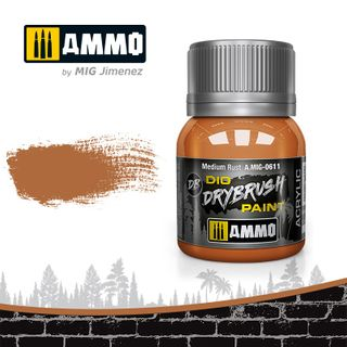 Ammo Paint, Drybrush Medium Rust 40ml