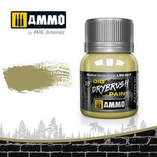 Ammo Paint, Drybrush Medium German Yellow 40ml
