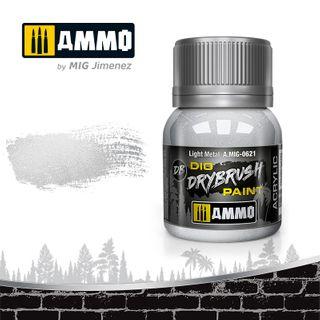 Ammo Paint, Drybrush Light Metal 40ml