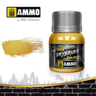 Ammo Paint, Drybrush Brass 40ml