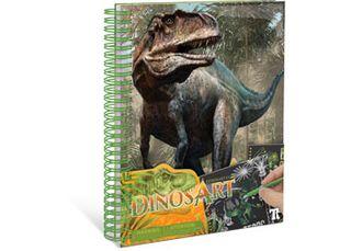 DinosArt-Book-Scratch & Sketch 1 PCE