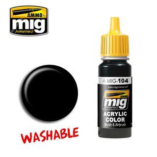 Ammo Paint, Washable Black 17ml