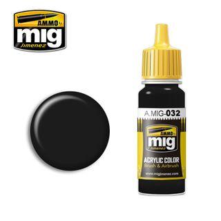 Ammo Paint, Satin Black 17ml