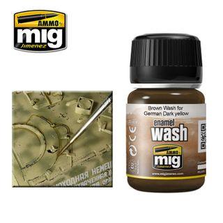 Ammo Paint, Brown Wash For German Dark Yellow Wash 35ml