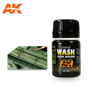AK Interactive Enamel Wash For Green Vehicles