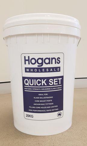 Hogans Quick Set HES Grout 20kg Bucket