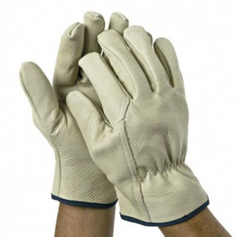 Riggers Leather Gloves Cream XL