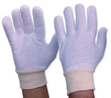 Cotton Gloves Large Knit Wrist (10)
