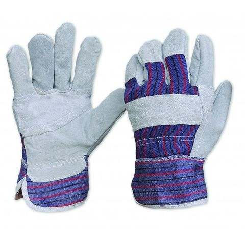 Cotton Back Leather Gloves