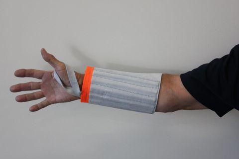 Wrist Guards 345mm Wide Orange Band