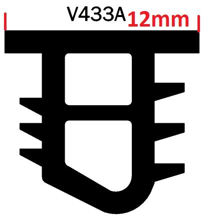 Glazing Wedge PVC Fixed 125M (V433A)
