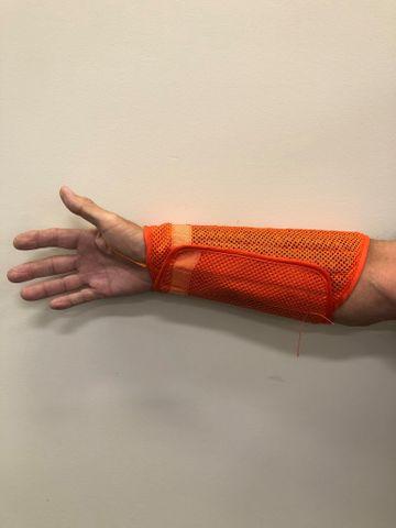 Hi Viz Orange Nylon Wrist Guards Pair
