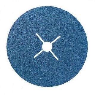 125X22 FIBRE DISC P80 BLUE ZIRCON.GRIT SLITS 6743080