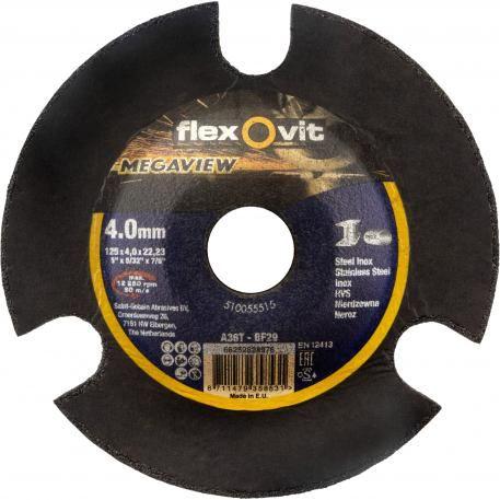 FLEXOVIT 125X4.0X22.23 MEGAVIEW D/C GRINDING