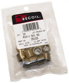 RECOIL INSERT PACK 5/16 UNC 18TPI X 1.50