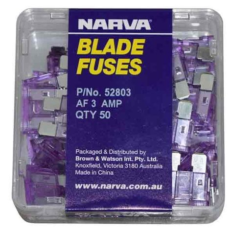 ELEC. BLADE FUSES 15AMP PKT50