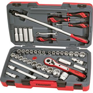 TENG 44PC 1/2IN DR. METRIC & AF SOCKET SET****