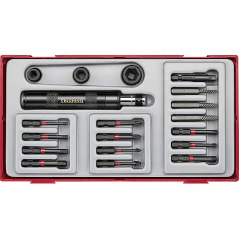 TENG 19PC 1/4IN DR. IMPACT DRIVER SET****