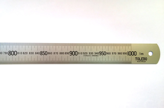 TOLEDO STEEL RULE 1000/36