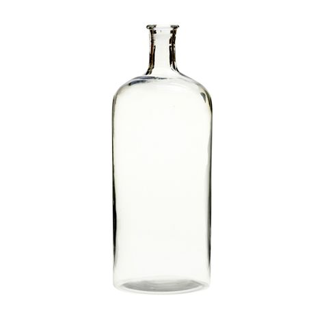CLEAR GLASS BOTTLE MEDIUM H33cm