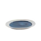MALI BLUE 21cm HANDPAINTED PLATE W/RIM
