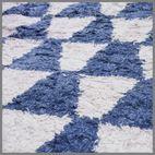 COTTON MOROCCAN BLUE/WHITE RUG 170x240cm