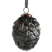 LUSTRE BLACK ACORN HANGING DECO - LARGE