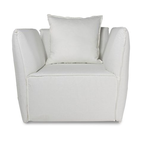 ##LOUELLA SINGLE SEAT SOFA in WHITE
